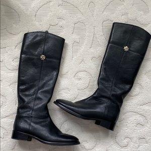 Tory Burch Jolie Tiding Boot-Black